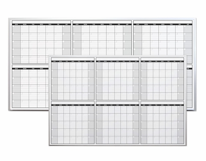 Non-Magnetic Six Month Dry Erase Calendars 4' x 8'