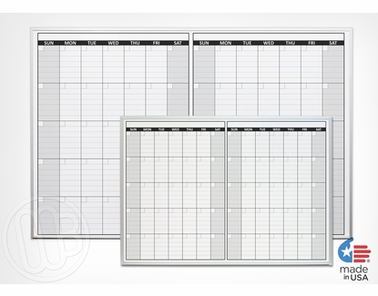 Non-Magnetic Two Month Dry Erase Calendar 4' x 8'