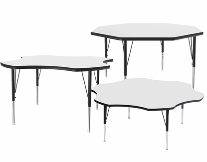 Octogonal Dry Erase Activity Tables, Whiteboard Surface