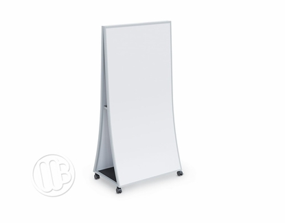 Ogee Curved Easel with White Painted Steel Writing Surface