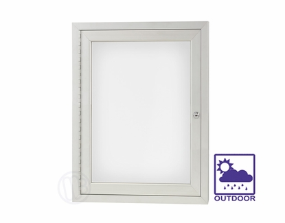 """Outdoor Whiteboard Cabinets 96"""" W x 48"""" H"""