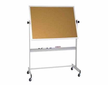 Portable Cork Board 4' Tall x 6' W