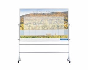 Printed Portable Whiteboard 4' Tall x 6' W / Print 2 Sides Reversed