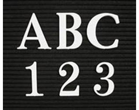 Roman Font Plastic Letters and Numbers in Boxed Sets