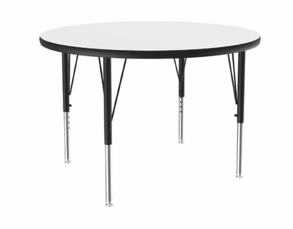 "Round 50"" x 50"" Dry Erase Activity Table, Whiteboard Surface"