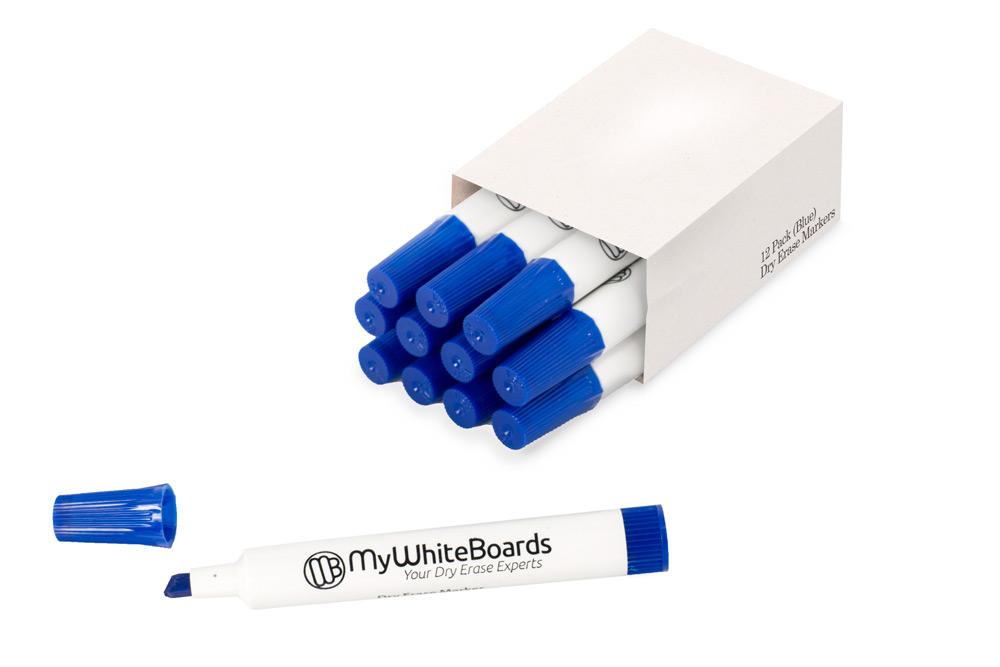 Single Color Box Chisel Tip Dry Erase Markers
