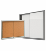 Sliding Glass Enclosed Bulletin Boards