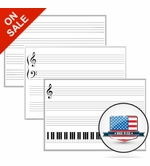 Small Music Staff Dry Erase Boards