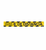 "Social Distancing Floor Sign in Spanish, 6 ft Apart 3"" x 24"""