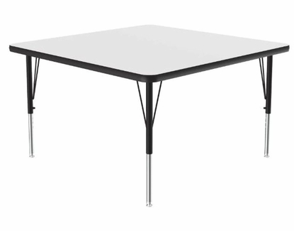 """Square 42"""" x 42"""" Dry Erase Activity Table, Whiteboard Surface"""