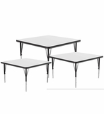 Square Dry Erase Activity Table, Whiteboard Surface