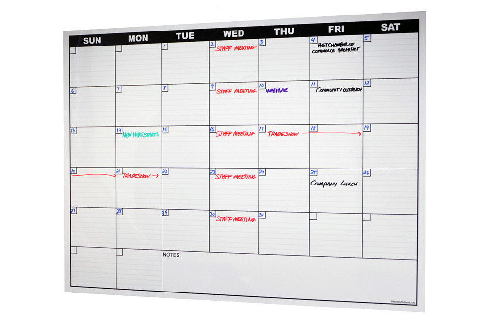 L N Stick Dry Erase Calendar Decal