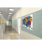 Vinyl Covered Bulletin Boards with Aluminum Trim