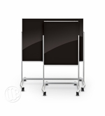 Visionary Move Black Magnetic Glassboard