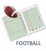 Wall Mounted Football Dry Erase Boards