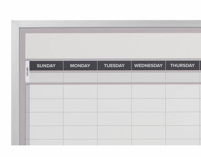 Weekly Dry Erase Calendar 3' Tall x 2' W Magnetic