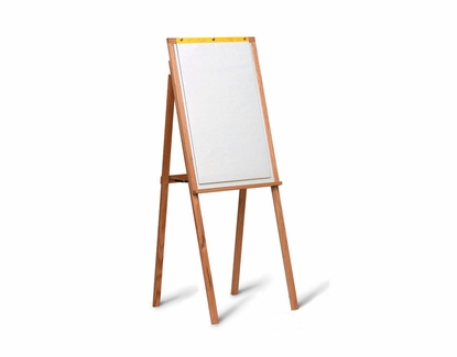 Wood Framed Presentation Easels With Flip Charts
