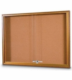 Wood Trimmed Sliding Glass Bulletin Boards