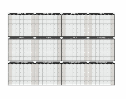 """Yearly Dry Erase Decal 31"""" H x 45.5"""" W Decal"""