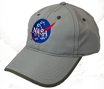 Accented NASA Meatball Logo Hat Grey