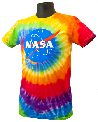 Adult Tie Dye NASA Meatball T-Shirt