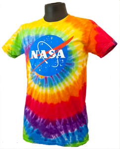c5e61db6 Adult Tie Dye NASA Meatball T-Shirt