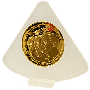 Apollo 50th Gold Plated Coin