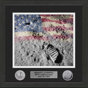 Framed 50th Anniversary Boot Print Photo w/Anniversary Coin