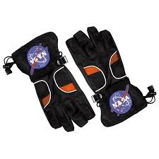 Kids Astronaut Space Gloves Black