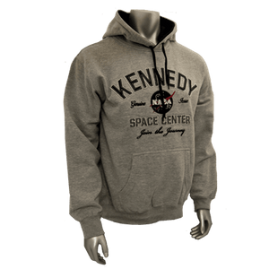 Kennedy Space Center Adult Hoodie Sweatshirt Grey