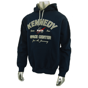 Kennedy Space Center Adult Hoodie Sweatshirt Navy