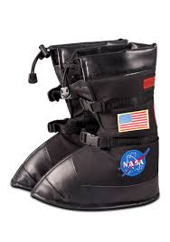 Kids Astronaut Flight Gear Boots Black