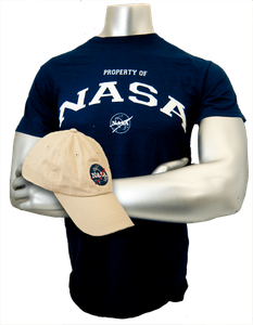Mens NASA Hat and Tee Combo Navy