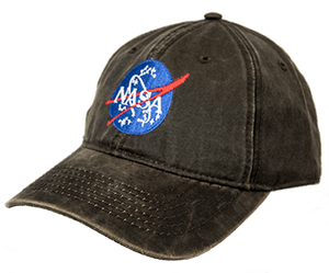 NASA Meatball Logo Hat Brown Weathered