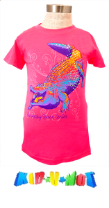Iridescent Spangle Gator Tee