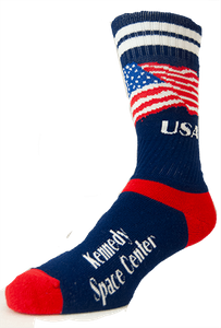 Kennedy Space Center American Flag Crew Sock