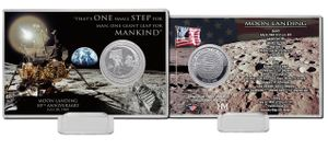 One Small Step Coin Card w/stand