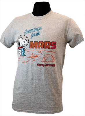 Snoopy - Greetings from Mars - T-shirt
