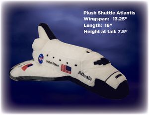 Space shuttle Atlantis Plush