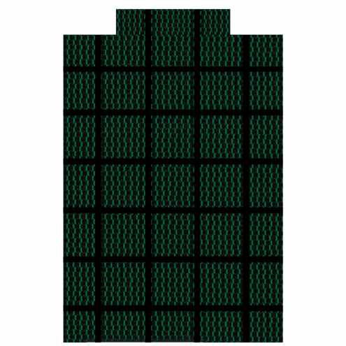 16' x 32' Rectangle Standard Mesh 90% Sunblock Safety Pool Cover Green with Center End Step