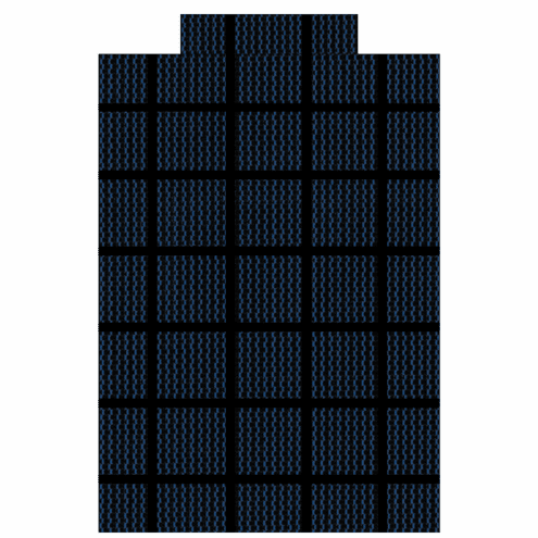 18' X 36' Rectangular Commercial Grade Mesh Safety Pool Cover 99% Sunblock Blue with Center End Step