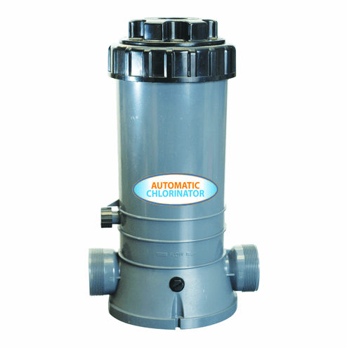 In-Line Automatic Chlorinator holds 9lbs of chlorine tablets