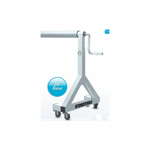 """Adjustable Height In-Ground Pool Solar Reel for pools up to 16' wide  (4"""" alum tube / 28"""" Base)"""