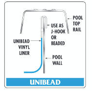 Beaded and J-Hook Above Ground Pool Liners