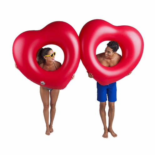 Big Mouth Giant Double Heart Pool Float