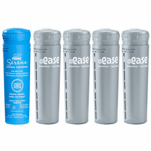 Frog @Ease In-Line System Four Month Supply (1) Mineral 01-14-3812 (4) Smart Chlor 01-14-3272