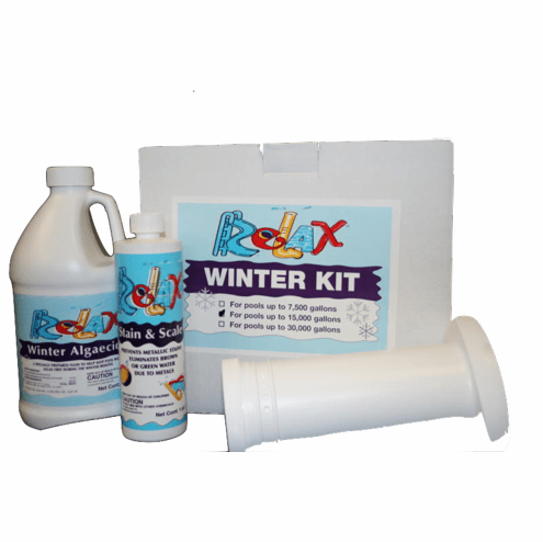 Kit #2 Supreme Pool Winterizing Chemical Kit with Enzyme Floater for Pools up to 15000 gallons