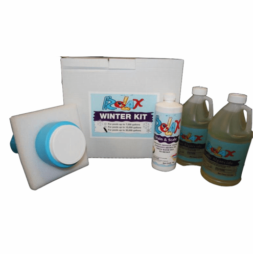 Kit #3 Supreme Pool Winterizing Chemical Kit with Enzyme Floater for Pools up to 30000 gallons