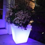 LED Patio Light - Square Planter - The Fiji