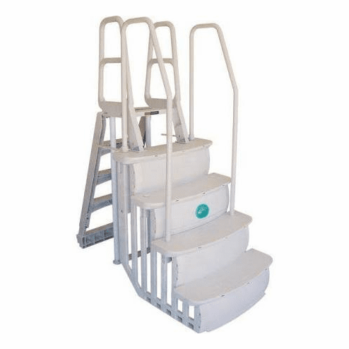 "Main Access 36"" wide Easy Entry Step with outside ladder"